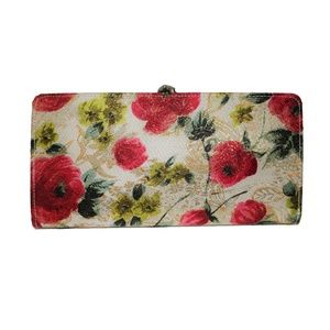 Vintage Floral Bi fold Wallet w/ Coin Holder